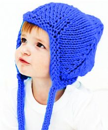 Magic Needles Handmade Pixie Gnome Cap With Earflaps - Blue