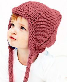 Magic Needles Handmade Pixie Gnome Cap With Earflaps - Pink