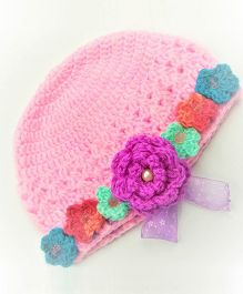 Magic Needles Flower Cap - Pink