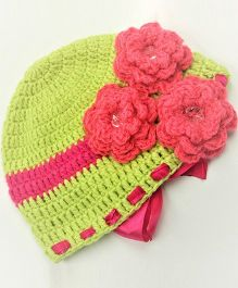 Magic Needles Flower Cap - Greenish Yellow
