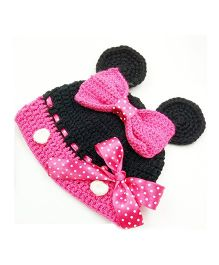 Magic Needles Cute Cap - Black & Pink