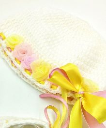 Magic Needles Bows And Ribbons Cap - White