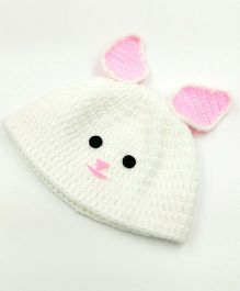 Magic Needles Bunny Cap - White & Pink