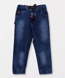 Spark Full Length Jeans With Pockets - Dark Blue