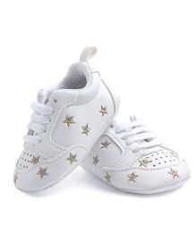 Alle Alle Shoes Style Booties Star Design - White