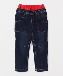 Spark Full Length Pull On  Jeans - Dark Blue