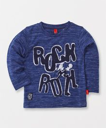 Spark Full Sleeves T-Shirt Rock Patch - Navy Blue
