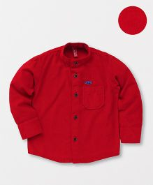 Spark Full Sleeves Solid Shirt - Red