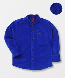 Spark Full Sleeves Solid Shirt - Royal Blue