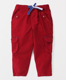 Spark Full Length Trouser With Drawstring - Red