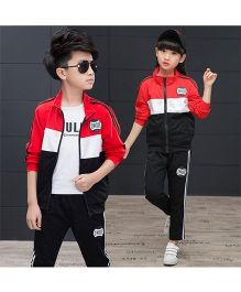Superfie Striped Jacket & Pants - Red