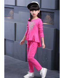 Superfie Trendy Sweatshirt & Pants - Hot Pink