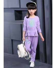 Pre Order - Superfie Trendy Sweatshirt & Pants - Purple