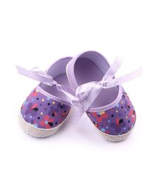 Dazzling Dolls Floral Booties - Purple