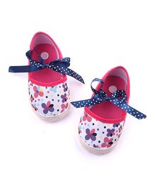 Dazzling Dolls Floral Booties - White