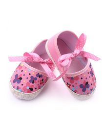 Dazzling Dolls Floral Booties - Pink