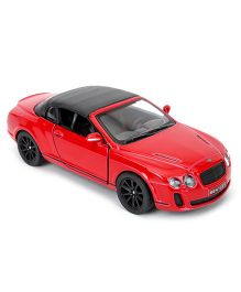 Kinsmart Die Cast 2010 Bentley Continental Sports Toy Car - Red