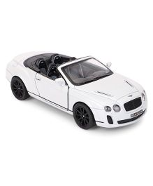 Kinsmart Die Cast 2010 Bentley Continental Sports Toy Car - White