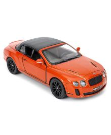 Kinsmart Die Cast 2010 Bentley Continental Sports Toy Car - Orange