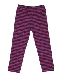 Pikaboo Full Length Leggings Stripes Pattern - Purple
