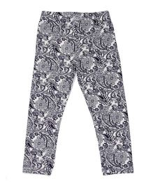 Pikaboo Full Length Leggings Paisley Print - Black