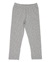 Pikaboo Full Length Leggings Heart Print - Grey