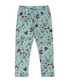 Pikaboo Full Length Leggings Floral Print - Green