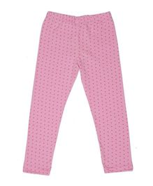 Pikaboo Full Length Leggings Heart Print - Pink