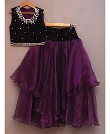 Pre Order - Sugar Candy Tutu Skirt With Sequence Top - Dark Purple