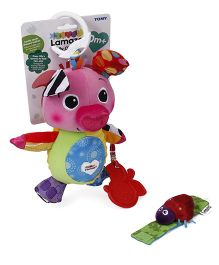 Lamaze Olly Oinker Clip On Soft Toy - Multi Colour