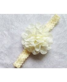 Angel Closet Flower Design Headband - White