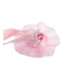 Angel Closet Rose Applique Headband - Pink