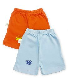 Grandma's Shorts Pack of 2 - Blue Orange