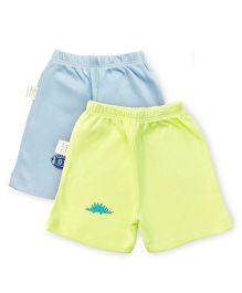 Grandma's Shorts Pack of 2 - Blue Lime Green