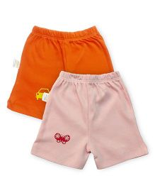 Grandma's Shorts Pack of 2 - Pink Orange