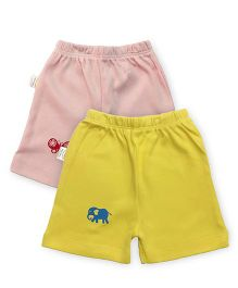 Grandma's Shorts Pack of 2 - Pink Yellow