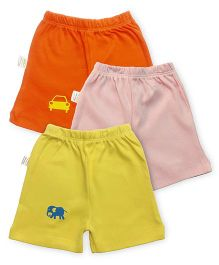 Grandma's Shorts Pack of 3 - Pink Orange Yellow