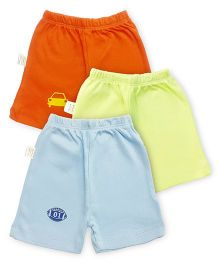 Grandma's Shorts Pack of 3 - Blue Orange Lime Green