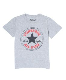 Converse Half Sleeves T-Shirt Star Print - Grey