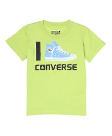 Converse Half Sleeves Printed T-Shirt - Green