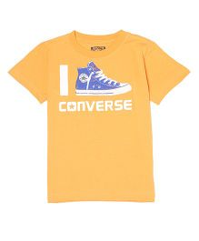 Converse Half Sleeves Printed T-Shirt - Orange