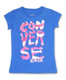 Converse Short Sleeves Printed Top - Blue