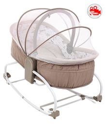 Babyhug Opal 3 in 1 Cozy Rocker Sleeper - Light Brown