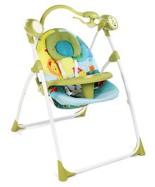 Babyhug Gaiety Electronic Swing With Toy Bar - Blue Green