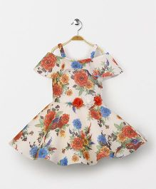 Enfance Floral Party Wear Dress - White