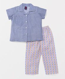 Enfance Core Striped Night Suit - Blue