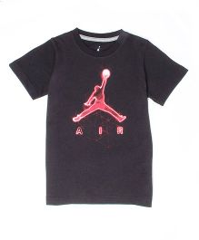 Jordan Half Sleeves Tee Air Print - Black