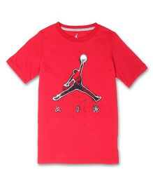 Jordan Half Sleeves Tee Air Print - Red