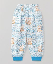 Mini Taurus Full Length Lounge Pant All Over Frog Print - Blue