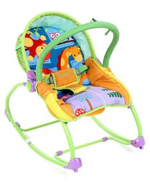 Babyhug Delight 3 In 1 Infant To Toddler Rocker - Multicolour